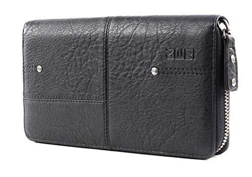Zwei Geldbörse V2-z Portemonnaie Damen Kunstleder, Farben Taschen:Noir