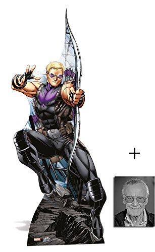 Hawkeye (Marvel Super Heroes Avengers) Lebensgrosse Pappaufsteller mit 25cm x 20cm foto (Avengers Hawkeye Bow)