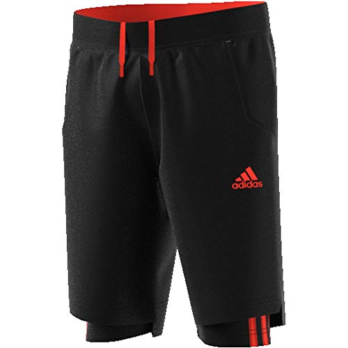 Und 1 Jungen Shorts (adidas Jungen Predator 2-in-1 Shorts, Black/Solar Red, 128)