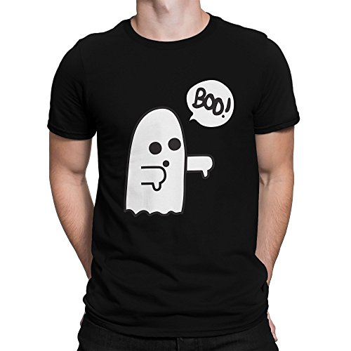 Pessimistic Ghost Disapproves Funny Sarcastic Helloween Herren T-Shirt L