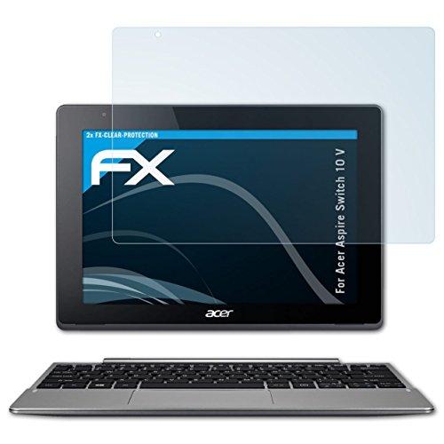 atFolix Schutzfolie kompatibel mit Acer Aspire Switch 10 V Folie, ultraklare FX Bildschirmschutzfolie (2X)