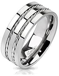 Paula & Fritz Titan anillo plata doble Wire disponible 57 18 - anillo tamaños 69 22 R-TM-3682
