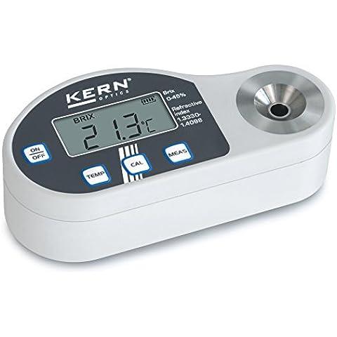 Refractómetro digital [Kern ORD 45BM] Ámbito de aplicación del azúcar, Escala Brix: 0 - 45 % (Diversión 0,1 %), Escala Índice de refracción: 1,3330 - 1,4098 nD (Diversión 0,0001 nD)