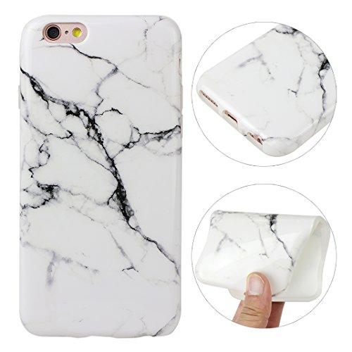 iPhone 6 Plus/6S Plus Bumper Case, iPhone 6 Plus Marmor Handyhülle, iPhone 6S Plus Marmor Handyhülle, Marble Marmor Design, Moon mood® Hülle für Apple iPhone 6 Plus/6S Plus 5.5 Zoll Weich Silikon TPU  Marmor 14