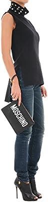 Moschino - Bolso de asas para mujer negro negro Talla única