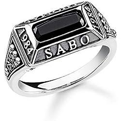Thomas Sabo - Unisex adulto con plata 925 y ónix