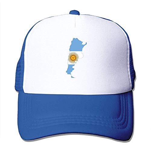 Gorgeous ornaments Adult's Flag Map of Argentina Youth Mesh Baseball Cap Summer Adjustable Trucker Hat -