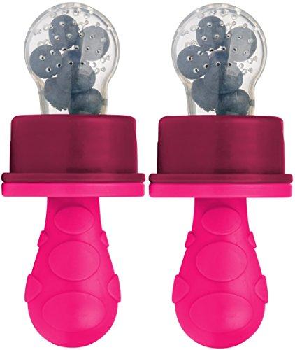 primamma 44012422 - Fruchtsauger mit Schutzkappe Doppelpackung für Mädchen