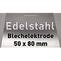 Edelstahl-Anode/Elektrode / Blech 50 x 80 mm (5 x 8 cm) / Galvanik Edelstahlektrode V2A - Stainless Steel Electrode