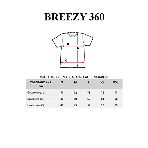 BOLF Herren T-Shirt Tee Kurzarm Rundhals Slim Fit Classic BREEZY 360 Weiß