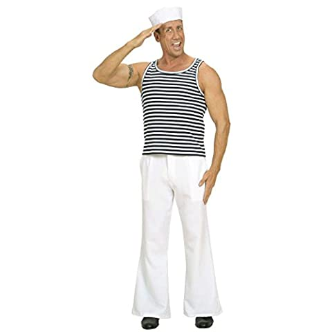 Marine Shirt Matrosen Unterhemd Marineshirt gestreift Fasching Russisches Matrosenhemd Seemann Oberteil Matrose Schiffsjunge Uniform Mottoparty Verkleidung Karneval Kostüm