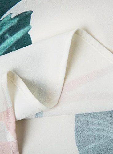 Futurino Damen Sommer Abstract Topical Leaves Schulterriemen Cami Tank Vest Weiß