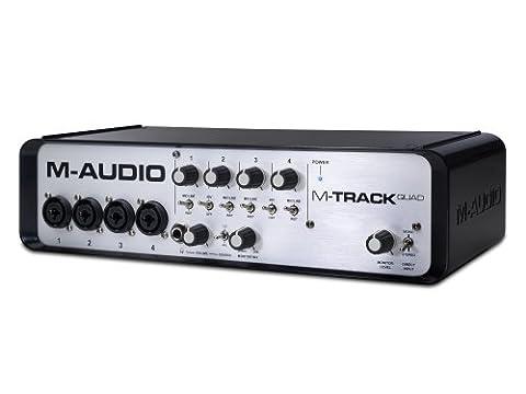 M-Audio M-Track Quad Professional Four Channel Audio/MIDI Interface with On-Board 3-Port USB Hub