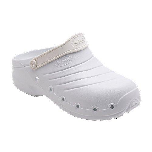 Scholl calzatura work light, colore bianco, taglia 38