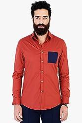 Mr Button The Hot Marina Cotton Shirt 100% Premium Mercerised Cotton Fabric Brandy Brown Full Sleeves Slim Collar Latest 2017 Modern Fashion Branded Stylish Casual Shirts For Men