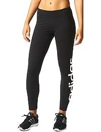 timeless design 075e2 c5d64 adidas Ess Lineartight - Mallas para mujer, color negro blanco, talla M