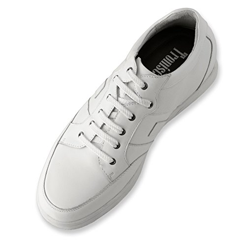 Masaltos - Chaussures rehaussantes pour homme. Jusqu'à 7 cm plus grand! Modèle Ibiza Blanc