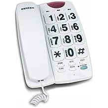 Telefono fijo teclas grandes con altavoz manos libres marcacion rapida ancianos