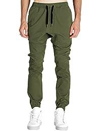 Italy Morn Hommes Pantalons Pantalons Skinny Tapered entrejambe Joggers Harem