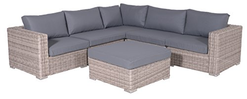 Garden Impressions 02220GS Lounge Set, Helsinki Organic, 256 x 256 x 64 cm, Grau