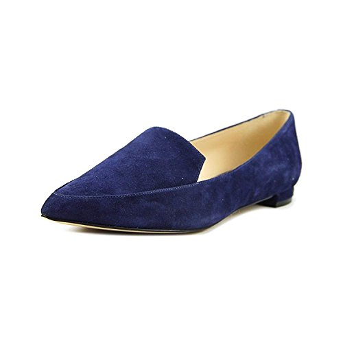 Nine West abay Pointed-Toe Flats Navy Suede 6M