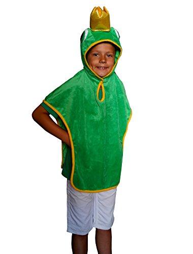Kostüm Froschkönig - Froschkönig 3D Karneval Kostüm Kinder Frosch Fasching Einheitsgröße (= Gr. 98 / 104 / 110 / 116 / 128)