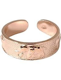 Plata esterlina Toe Ring–Tamaño ajustable. Elefantes. 5,6mm de ancho en punto más. Disponible en plata chapados en oro, plata o plata bañado en oro rosa