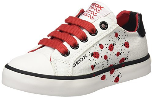 K Girl E Sneaker, Weiß (White/Red), 29 EU ()