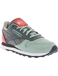 Reebok CL PM cuero zapatilla deporte gris V66302