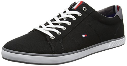 Tommy Hilfiger Herren H2285ARLOW 1D Low-Top, Schwarz (Black 990), 43 EU