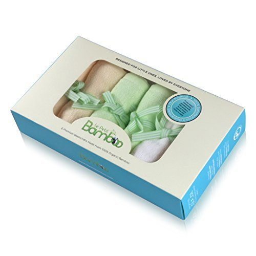débarbouillettes pour bébé - Couverture douce, serviettes en bambou biologique garanti Best Chiffons Multicolor