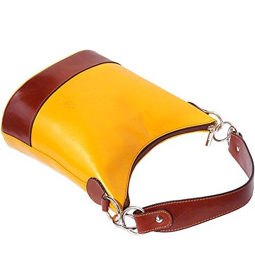 Borsa a spalla 8687 Giallo-marrone