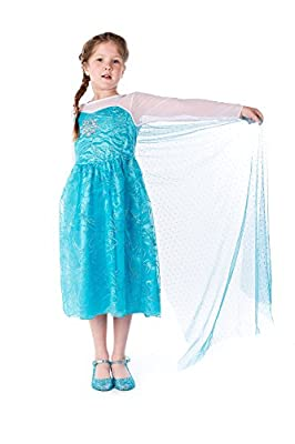ELSA & ANNA® Princesa Disfraz Traje Parte Las Niñas Vestido por UK1stChoice-Zone