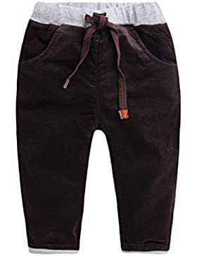 Happy Cherry - Pantalones de Invierno para Niños Bebés Grueso de Pana Cálidos Pants Kid Winter Chándal Jogger...
