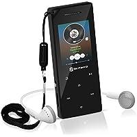 Lettore MP3 con Bluetooth 4.0, Slitinto 8G Portable Lossless HiFi Sound Lettori di musica MP3 con 1.8 inch TFT Schermo, Altoparlante, FM Radio, Registratore vocale, Espandibile fino 128 GB