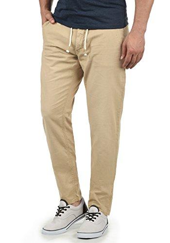 Blend Lian - Pantalones de Lino para Hombre, tamaño:L, Color:Chalk Stone (70032)