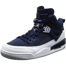 Nike Calzado Hombre Air Jordan Spizike - Midnight Navy EN Piel Azul 315371-406 jGUaic