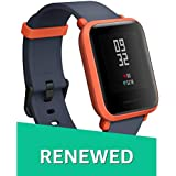 (Renewed) Amazfit Bip Smartwatch Huami with All-Day Heart Rate and Activity Tracking, Sleep Monitoring, GPS, Ultra-Long Battery Life, Bluetooth (Red)