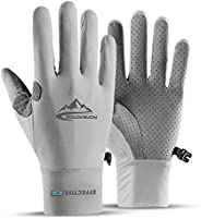 Summer Cooling Cycling Gloves, Touch Screen Gloves, Full Finger Gloves for Men Women Climbing Workout Exercise