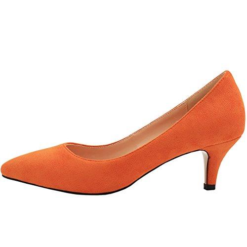 MERUMOTE , Petit talon femme Orange - orange-daim