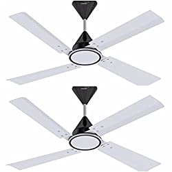 V GUARD 1200 MM SWEEP 4 BLADE CEILING FAN 4 AIR PEARL WHITE (PACK OF 2)