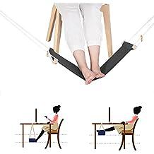 Hamac de pied, repose-pieds portatif réglable de repos de bureau de bureau (Noir)