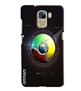Omnam Google Chrome Logo Blend With Galaxy Effect Printed Designer Back Cover Case For Huawei Honor 7