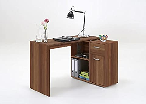 LEXA-Midi Corner Home Office Computer Desk Finished in Walnut SPECIAL OFFER PRICE NOW ONLY £109.99 FOR 1 MONTH ONLY