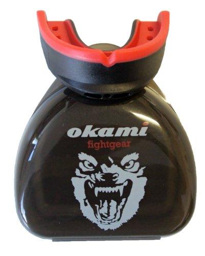 OKAMI Fightgear Mund- und Zahnschutz HI Pro Mouthguard (Schwarz/Rot, 12.0021)