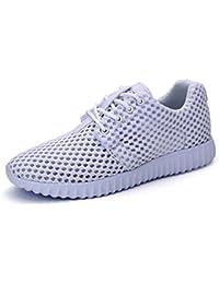 SHOWHOW Damen Luftig Mesh Sommer Schuhe Freizeitschuhe Sneakers Pink 35 EU
