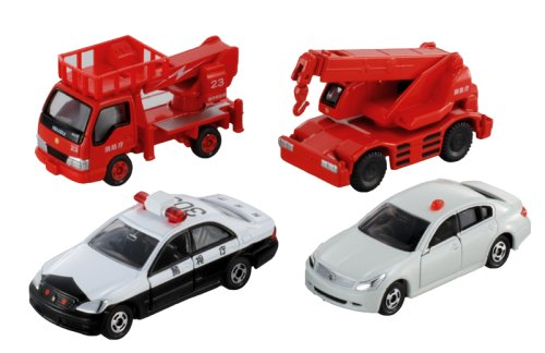 Takaratomy Tomica Gift set 4 Emergency Vehicles JAPAN (japan import)
