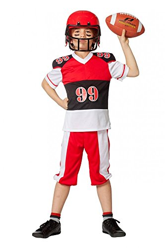 shoperama Kinder-Kostüm American Football für Jungen inklusive Helm Jugendliche Sport, Kindergröße:152 - 10 bis 12 ()
