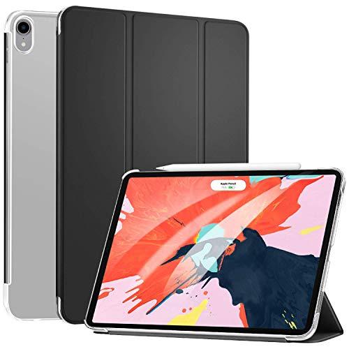 "Arktis Hülle kompatibel mit iPad Pro 11"", Ultraslim Fullbody Case Schutzhülle Smart Cover - Black-Frosted mit Aufstellfunktion Sleep & Wake [Apple Pencil und Face ID kompatibel] Mikrofaser innen"