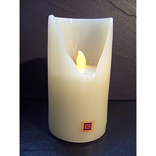 Aeternum LED Grablicht weiß Größe 2 | Grabkerze elektrisch | Grableuchte | Kerze Weiss